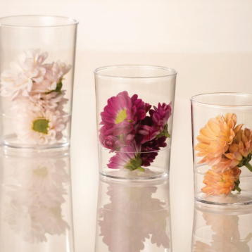 vasos con florecitas