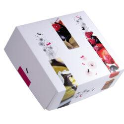 Caja cuadrada con tapa modelo trio