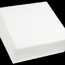 Cajas rectangulares y cuadradas blancas