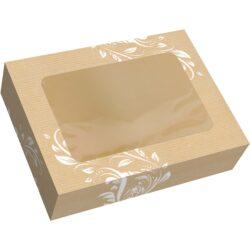 Caja rectangular con ventana modelo gala